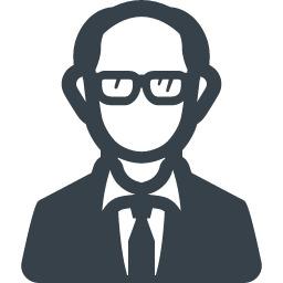 眼鏡をかけた男性のアイコン